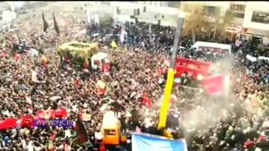 حضور میلیونی مردم در مراسم با شکوه تشییع پیکر مطهر حاج قاسم سلیمانی