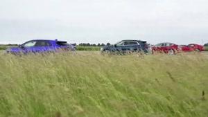 خودرو های برقی در برابر بنزینی درگ ریس، تست ترمز و...