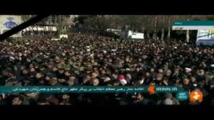 اقامه نماز رهبر انقلاب بر پیکر سردار سلیمانی