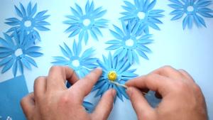 آموزش اوریگامی ساخت گل سه بعدی