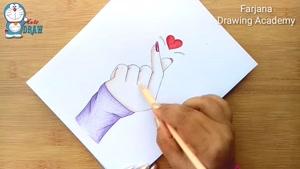 آموزش گام به گام طراحی بشکن زدن با مداد