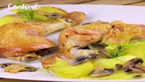 طرز تهیه خوراک مرغ و قارچ خوشمزه