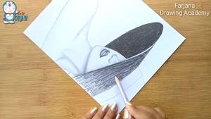 آموزش طراحی زن با کلاه با مداد