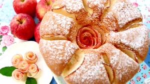 طرز تهیه کیک شیفون سیب