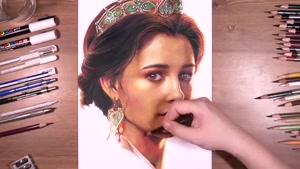 آموزش طراحی چهره پرنسس در فیلم علاءالدین