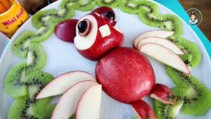ایده های میوه آرایی با سیب و کیوی