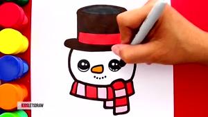 آموزش نقاشی شخصیت های کریسمسی به کودکان