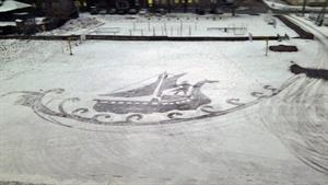 هنرنمایی با ردپا در برف