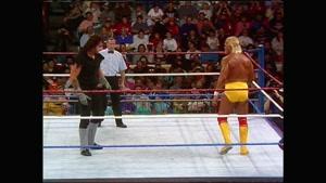 مبارزه قدیمی هالک هوگن و آندر تیکر در سال 1991