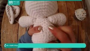 آموزش بافت عروسک بانی خرگوشه با قلاب در چند مرحله