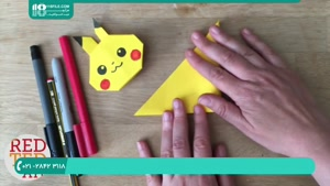 ساخت اوریگامی پیکاچو ( شخصیت کارتونی ) برای کودکان