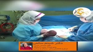 سزارین نوزاد پسر حاصل آی وی اف پس از 8 سال نازایی