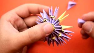 آموزش اوریگامی ساخت چتر سه بعدی