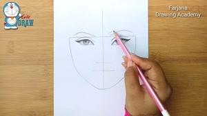 آموزش طراحی دختر عینکی با مداد