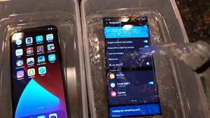تست انجماد دو گوشی iPhone 12 Pro Max و Note 20 Ultra