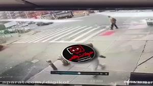 تصادف وحشتناک راننده خواب آلود با عابر پیاده و...