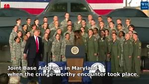 و باز هم ترامپ : حرکت عجیب دونالد ترامپ با ملانیا