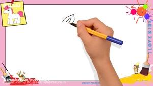 آموزش نقاشی به کودکان _ نقاشی اسب