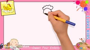 آموزش نقاشی به کودکان _ نقاشی مرغ