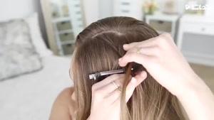 آموزش بافت مو دخترانه شیک و فانتزی