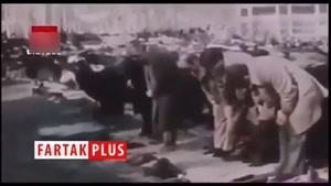 نماز خواندن عجیب سفیران انگلیس و آمریکا درصف اول نماز جمعه تهران!