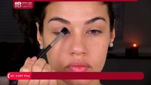 آموزش مدل آرایش چشم همراه با کشیدن خط چشم