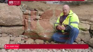 آموزش ساخت آبنما سنگی بزرگ به شکل رودخانه مصنوعی