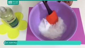آموزش کامل ساخت اسلایم آدامسی با چسب و شامپو