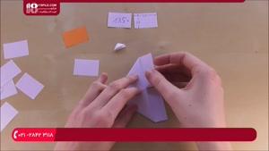 آموزش ساخت اوریگامی سه بعدی قو