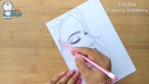 آموزش طراحی نیمرخ با مداد