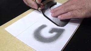 آموزش نقاشی سه بعدی حرف G با مداد