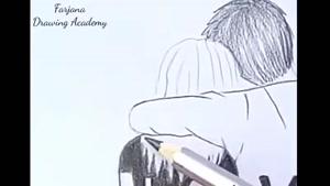 آموزش نقاشی زوج عاشق با مداد