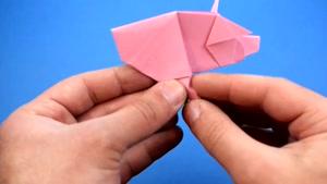 آموزش ساختن اوریگامی خوک