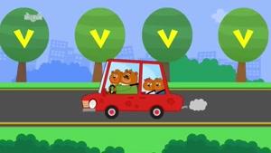 letter v - little fox - phonics