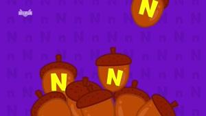 letter n - little fox - phonics