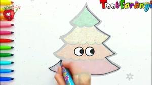 آموزش نقاشی به کودکان _ درخت کریسمس