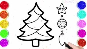 نقاشی درخت کریسمس