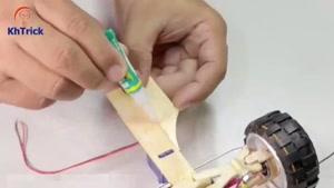 آموزش ساخت ماشین با چوب بستنی و آرمیچر