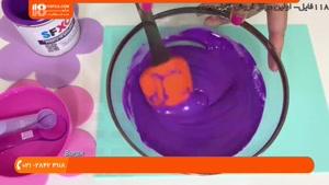 ساخت اسلایم با خاصیت دو رنگه شدن در آب