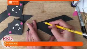اوریگامی :::ساخت کاردستی خفاش برای کودکان