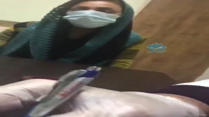 بیمار مبتلا به کرونا وضعیت سرفه به این گونه است