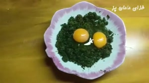 طرز تهیه کوکو سبزی با گردو
