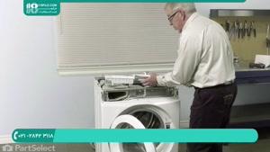 آموزش تعمیر ماشین لباسشویی-تعویض شیلنگ تخلیه لوله به پمپ