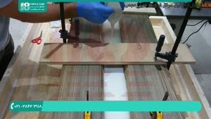 ساخت میز با رزین شفاف