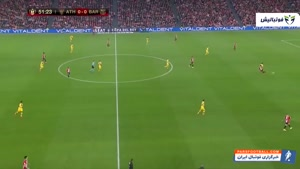 خلاصه بازی اتلتیکو بیلبائو 1 -0 بارسلونا