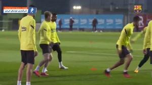 تمرین بارسلونا پیش از دیدار برابر ختافه