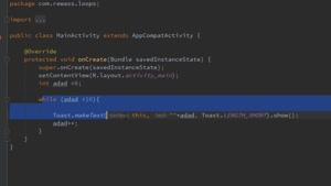 آموزش حلقه های do و while و for در java برنامه نویسی اندروید