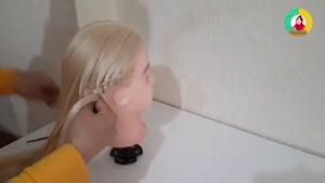 آموزش بافت مو جمع شده