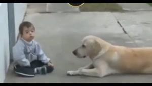 محبت سگ به کودک سندروم داون