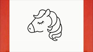 آموزش نقاشی فانتزی و بامزه اسب تک شاخ
